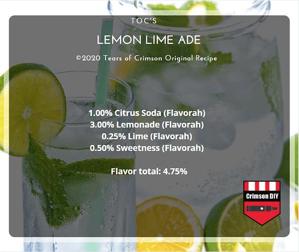 TOC'S Lemon Lime Ade