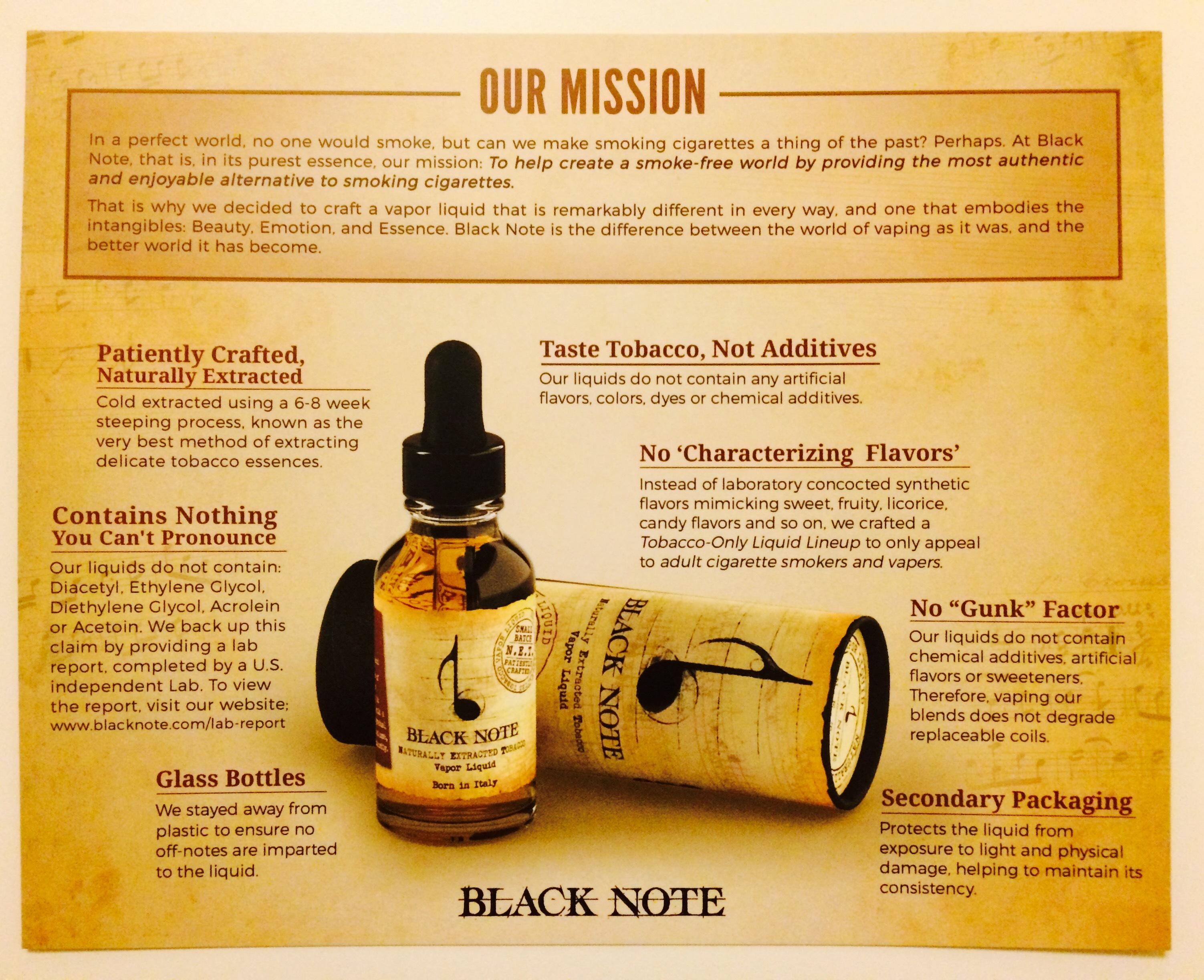 Black Note E-liquid Review - NET Creations and Reviews - E